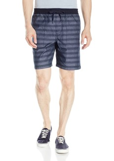 Original Penguin Men's 5 inch Elastic W/b with Printed Stripe Short
