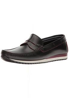 Original Penguin Men's Adrian Slip-On Loafer Black/red  D US