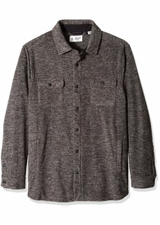 Original Penguin Men's Big and Tall Long Sleeve Button Down Fleece Jacket  2XL