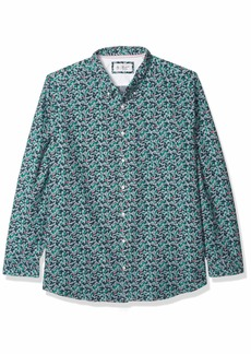 Original Penguin Men's Big and Tall Long Sleeve Printed Button Down Shirt  XLT