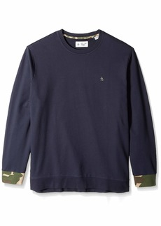 Original Penguin Men's Big and Tall Long Sleeve Sweatshirt  1XL