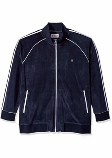 Original Penguin Men's Big and Tall Long Sleeve Track Jacket  1XL