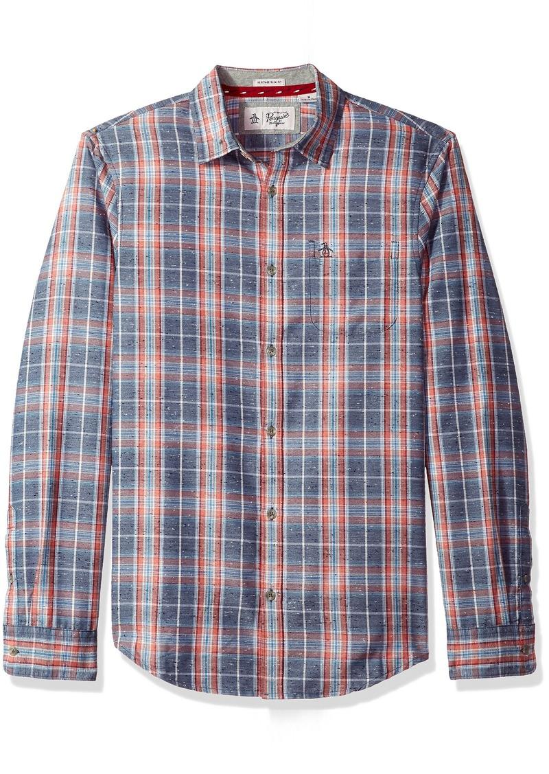 26436868d5ca Original Penguin Original Penguin Men's Brushed Flannel Plaid Shirt ...