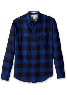Original Penguin Men's Buffalo Plaid Brushed Shirt  Extra Large