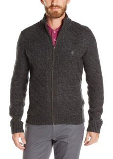 Original Penguin Men's Chunky Full Zip Sweater