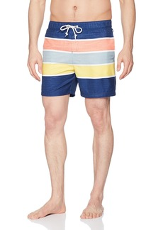 Original Penguin Men's Colorblock Elastic Waist Swim Trunk  Extra Large