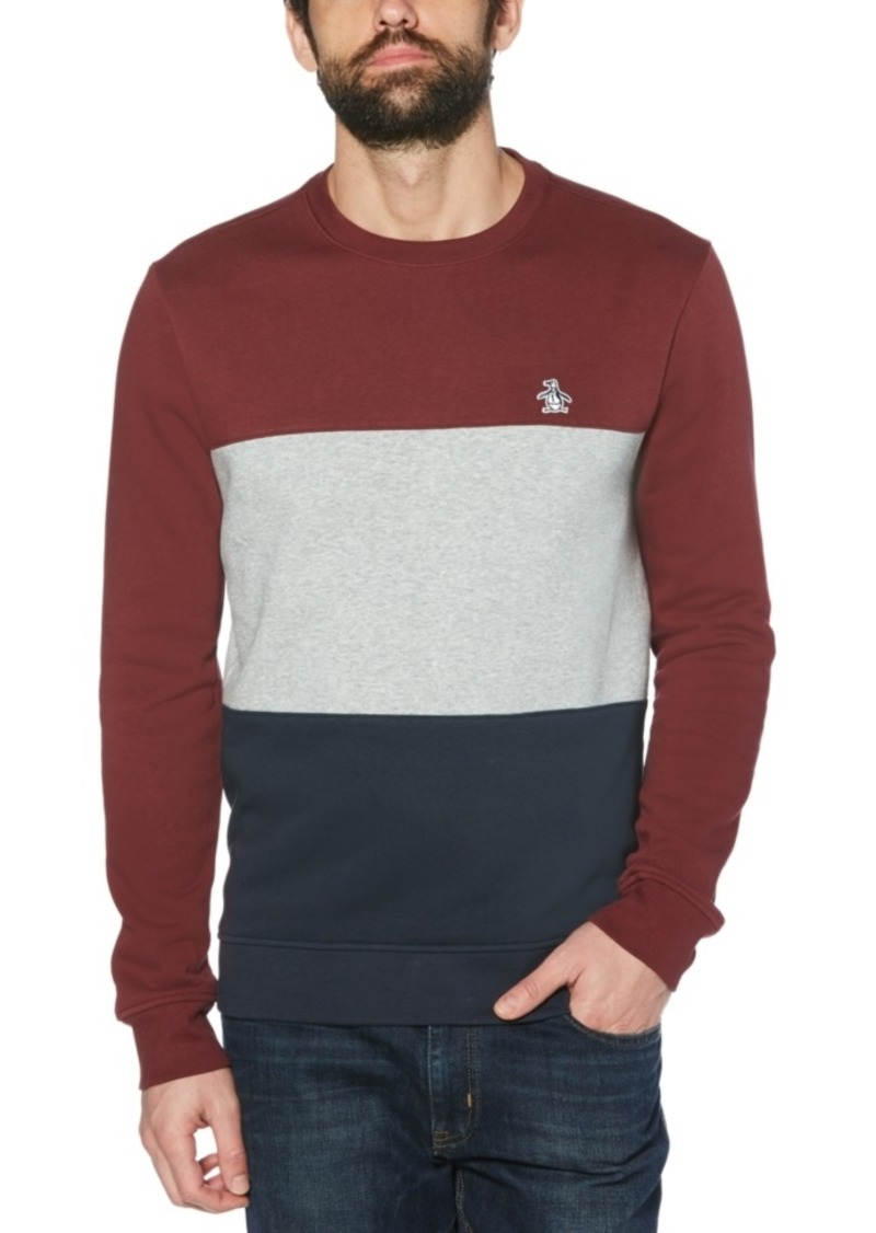 Original Penguin Men's Colorblock Fleece Sweater