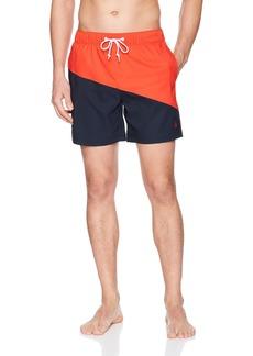 Original Penguin Men's Colorblocked Elastic Stretch Volley Swim Short  XL