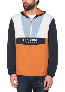 Original Penguin Men's Colorblocked Logo-Print 1/4-Zip Cagoule Jacket