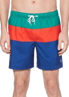 Original Penguin Men's Colorblocked Swim Trunks