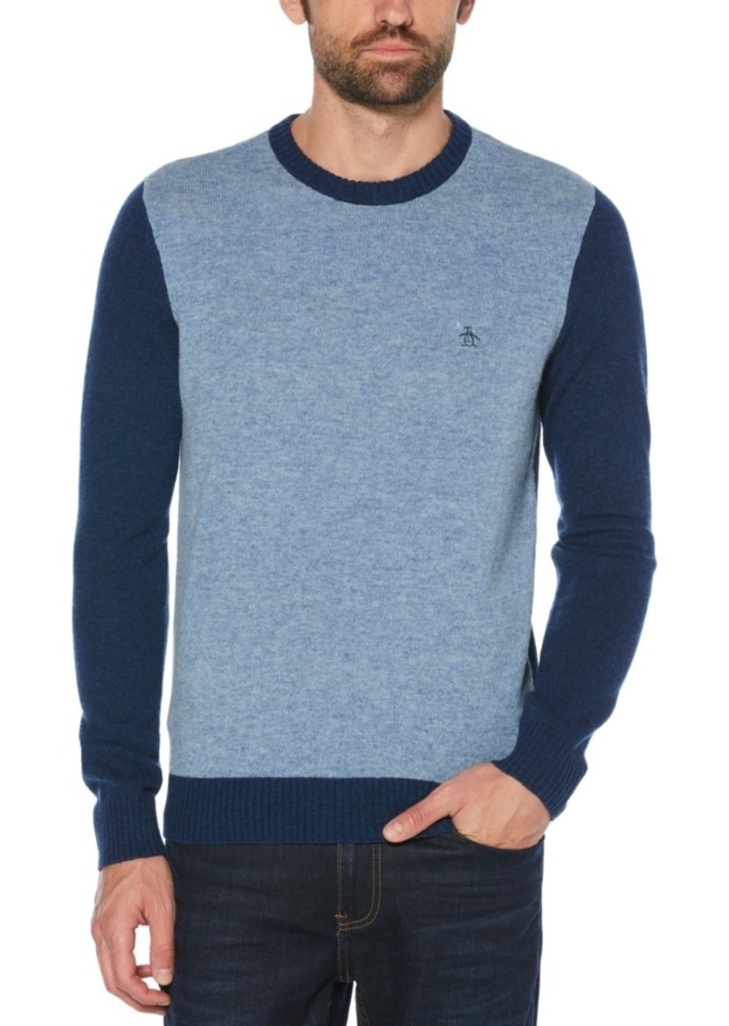 Original Penguin Men's Colorblocked Wool Sweater