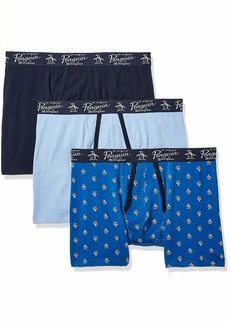 Original Penguin Men's Cotton Stretch Boxer Brief Underwear Multipack Belair/SKYC/cbu-3 Pack