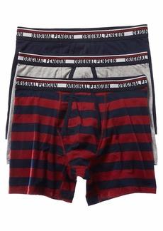Original Penguin Men's Cotton Stretch Boxer Brief Underwear Multipack Sky Captain/Light Grey/Red Stripe M