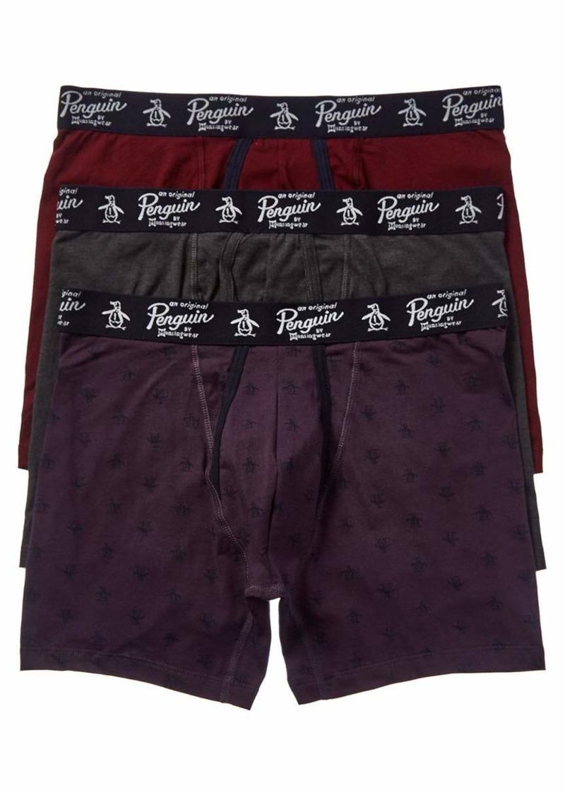 Original Penguin Men's Cotton Stretch Boxer Brief Underwear Multipack  XL
