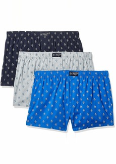 Original Penguin Men's Cotton Woven Boxers 3 Pk  M