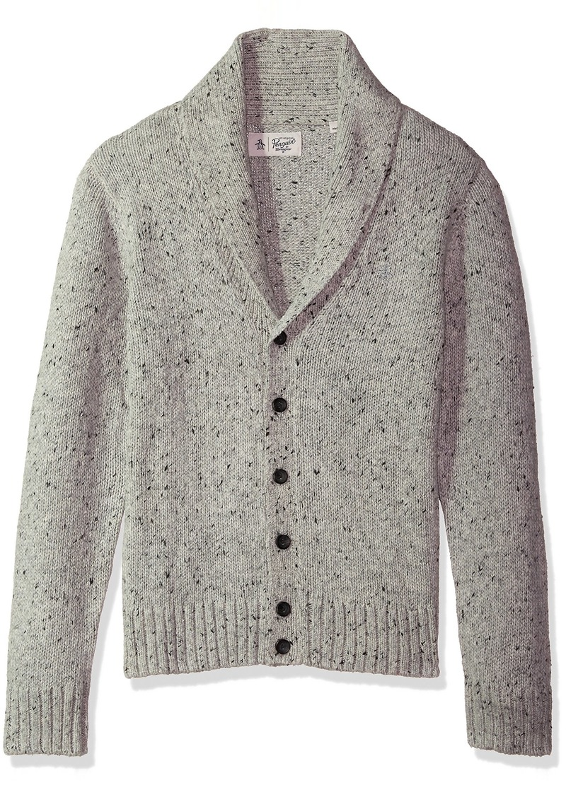 Original Penguin Men's Donegal Shawl Cardigan griffin