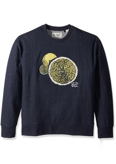 Original Penguin Men's Drop Shoulder Lemon Graphic Crew