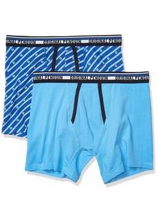 Original Penguin Men's Earl Boxer Brief Set Azure Blue/Classic Blue Crest XL
