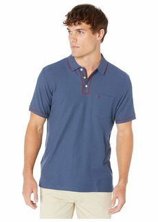 Original Penguin Men's Earl Polo Sargasso Sea Biking red Tipping XL