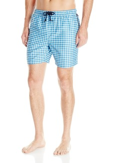 Original Penguin Men's Elastic Waist Gingham Trunk