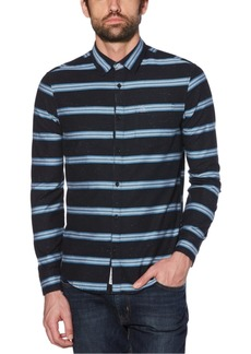 Original Penguin Men's Engineered Horizontal Stripe Shirt