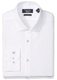 Original Penguin Men's Essential Slim Fit Spread Collar Dress Shirt