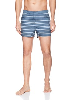 Original Penguin Men's Feeder Stripe Print Fixed Box Trunk