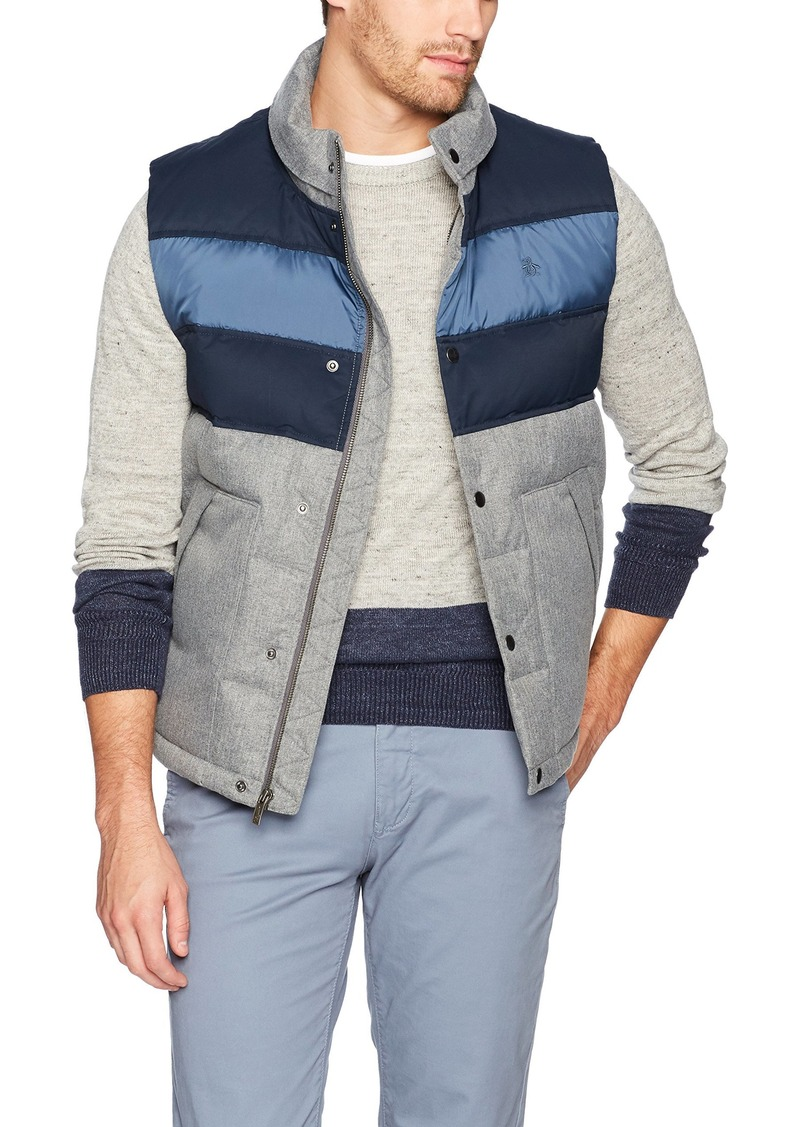 Original Penguin Men's Filled Colorblock Vest  Extra Large