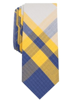 Original Penguin Men's Fitts Plaid Skinny Tie