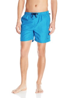 Original Penguin Men's Geo Print Elastic Waist Volley Swim Trunk