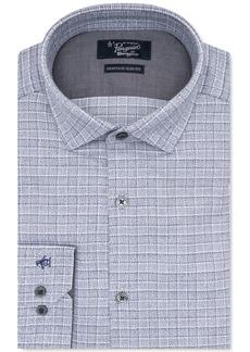 Original Penguin Men's Heritage Slim-Fit Comfort Stretch Medium Gray Check Dress Shirt