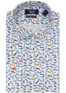 Original Penguin Men's Heritage Slim-Fit Performance Stretch Candy-Print Dress Shirt