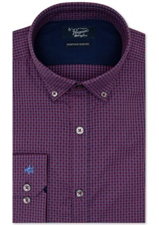 Original Penguin Men's Heritage Slim-Fit Performance Stretch Dot Check Dress Shirt