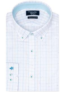 Original Penguin Men's Heritage Slim-Fit Stretch Check Print Dress Shirt