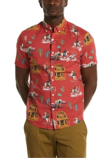 Original Penguin Men's Heritage Slim-Fit Western-Print Shirt