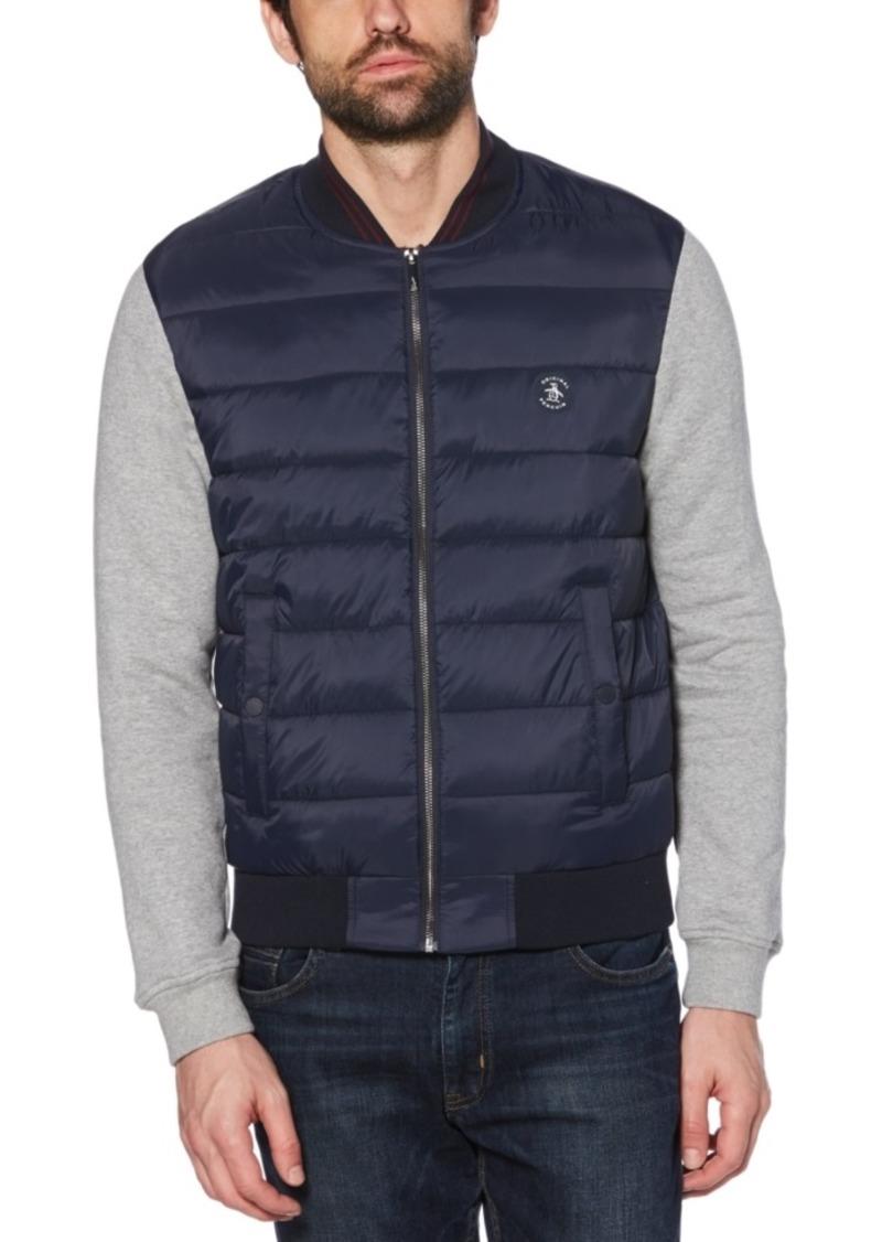 Original Penguin Men's Hybrid Knit Quilted Jacket