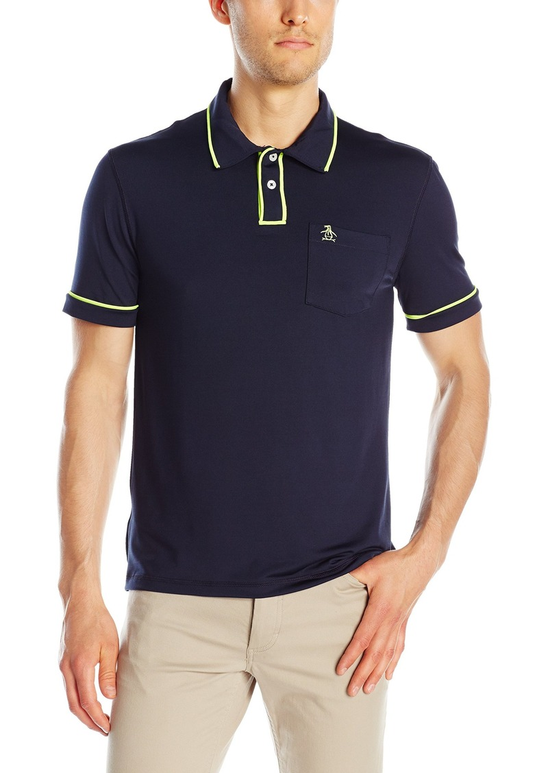 Original Penguin Men's Hydro Wicking Slim Fit Earl Polo Shirt  Large