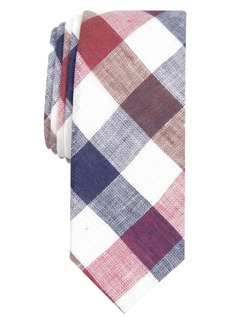 Original Penguin Men's Jarrad Gingham Skinny Linen Tie