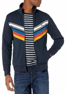 Original Penguin Men's Knit Long Sleeve Chevron Tape Track Jacket
