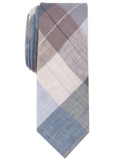 Original Penguin Men's Leach Plaid Skinny Linen Tie