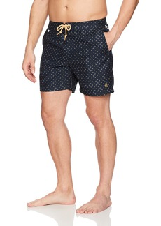 Original Penguin Men's Leaf Print Fixed Waist Swim Trunk