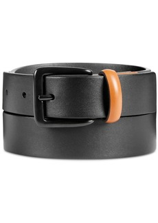 Original Penguin Men's Leather Color-Tab Belt
