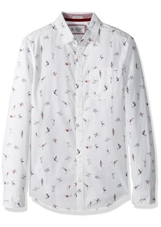 Original Penguin Men's Long Sleeve Clumsy Skaters Print