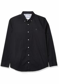 Original Penguin Men's Long Sleeve Core Poplin Button Down Shirt with Stretch  L
