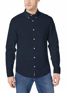 Original Penguin Men's Long Sleeve Core Poplin Button Down Shirt with Stretch  XXL