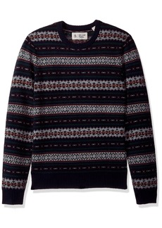Original Penguin Men's Long Sleeve Fairisle Holiday Crew