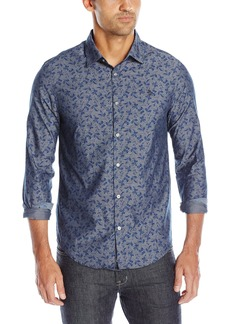Original Penguin Men's Long Sleeve Floral Printed C