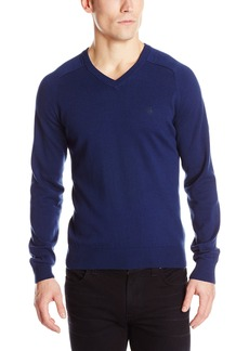 Original Penguin Men's Long Sleeve Fully Fashioned Jersey Raglan V-Neck