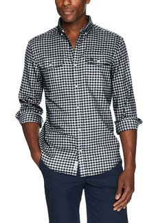Original Penguin Men's Long Sleeve Gingham Button Down Shirt  Extra Large