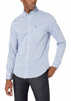 Original Penguin Men's Long Sleeve Button Down Shirt Surf The Web Heathered Gingham M
